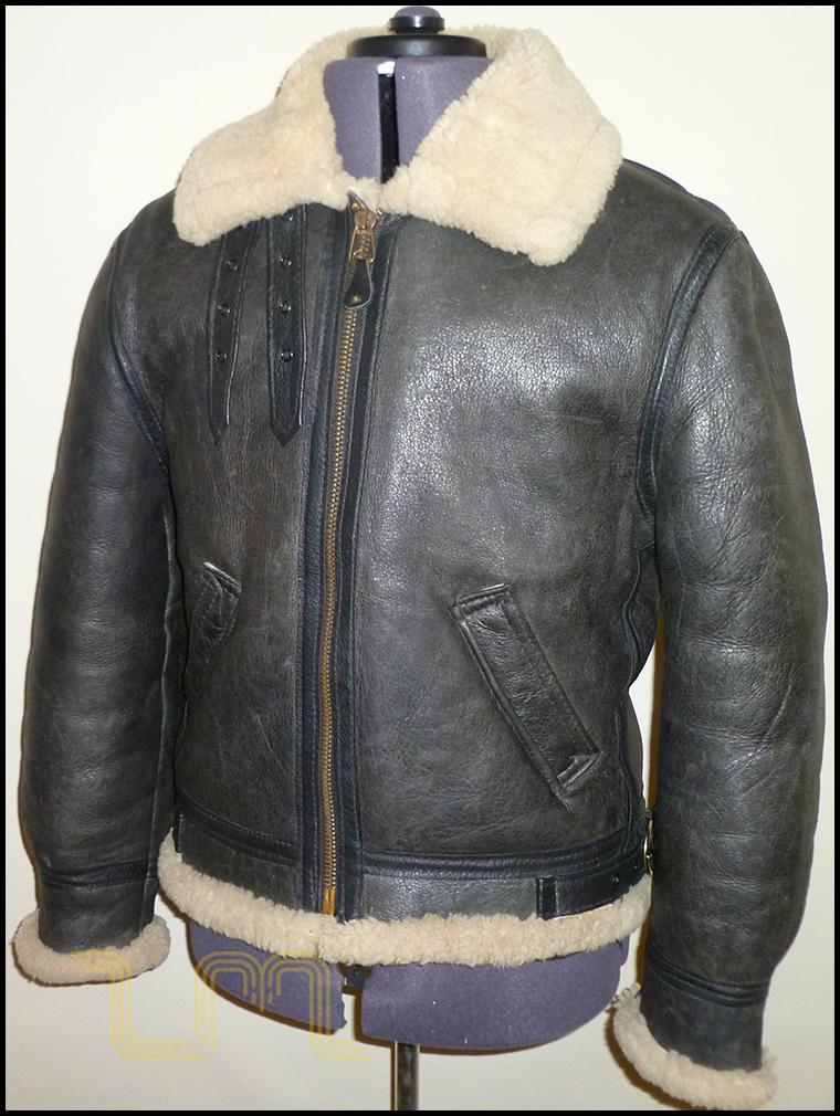 Black Sheepskin Flying Jacket - Coat Nj