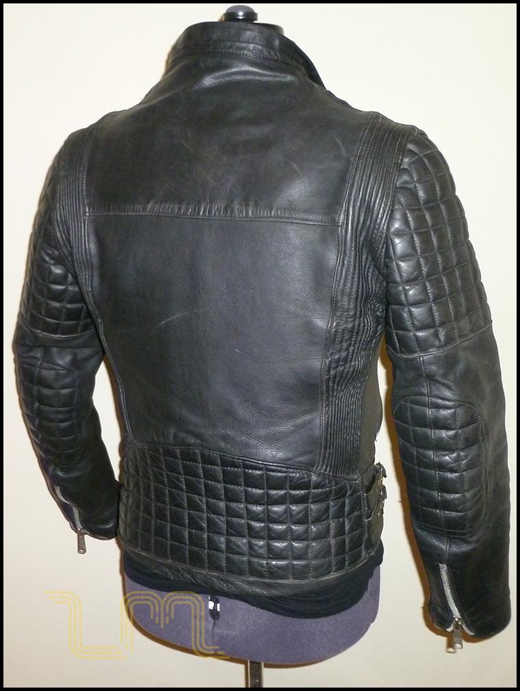 Vintage Black Leather Cafe Racer Jacket | Item No. 39