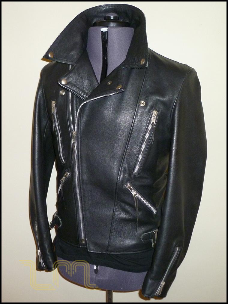 Vintage Wolf Leather Biker Jacket | Item No. 45