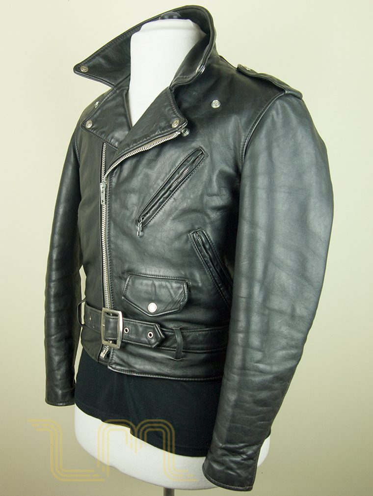 Schott Vintage Leather Biker Jacket Wroc Awski