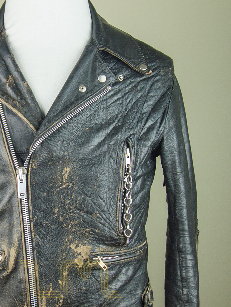 Vintage Well Worn Rockers Leather Biker Jacket | Item No. 69