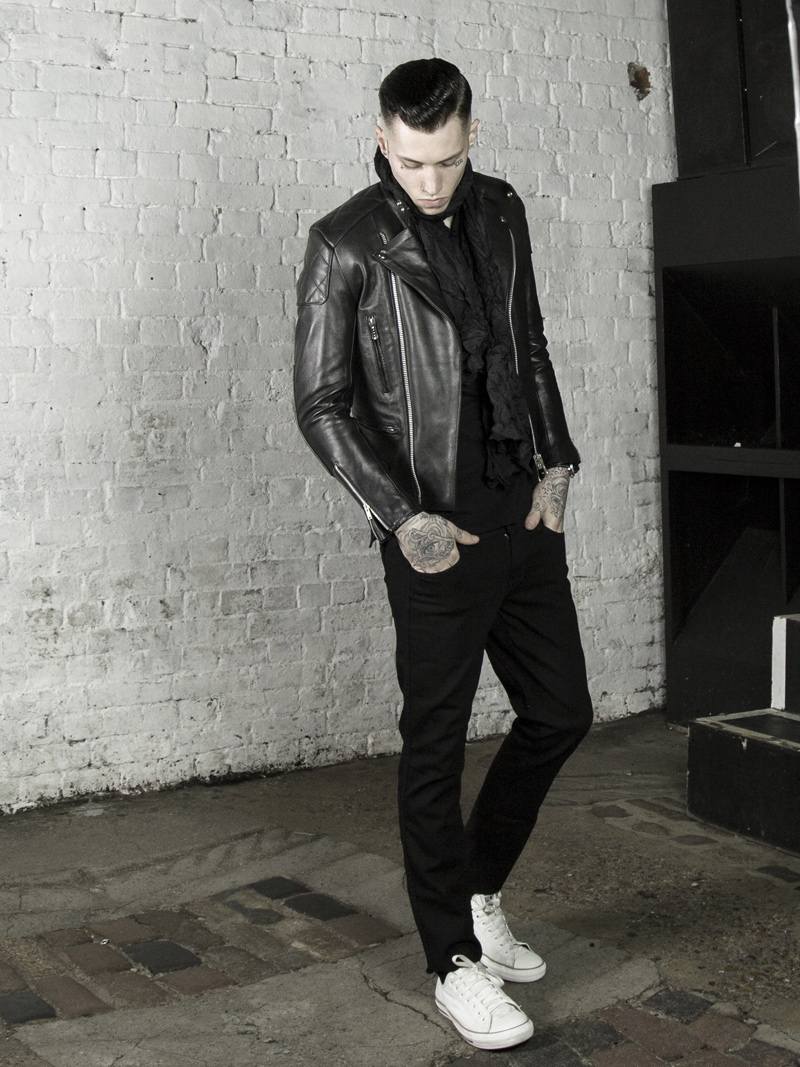 Leather Monkeys biker jacket, clothing and accessories lookbook look 2