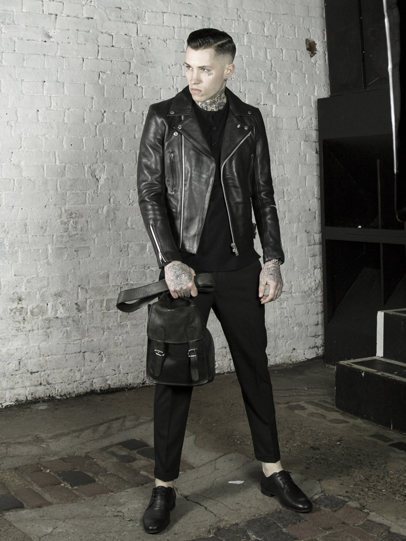 Leather Monkeys biker jacket, clothing and accessories lookbook look 3