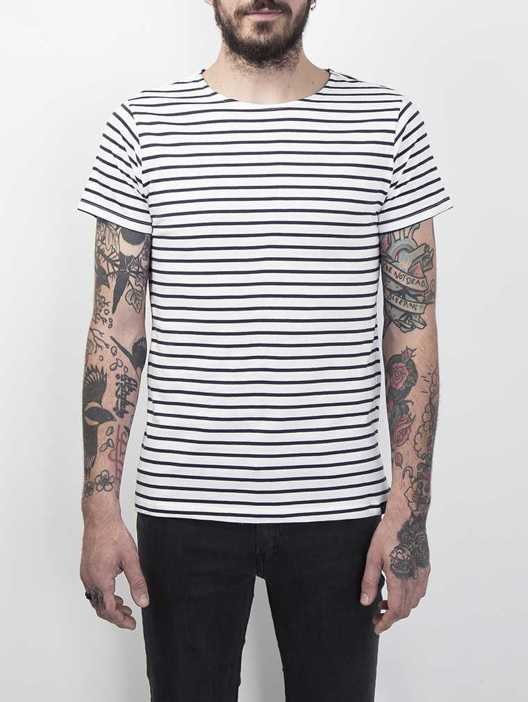 369a44ff22 Cleon Men's Short Sleeve Breton Striped T Shirt | Stripe | LMUK ...