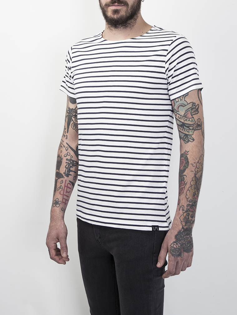 Cleon Men's Short Sleeve Breton Striped T Shirt image two