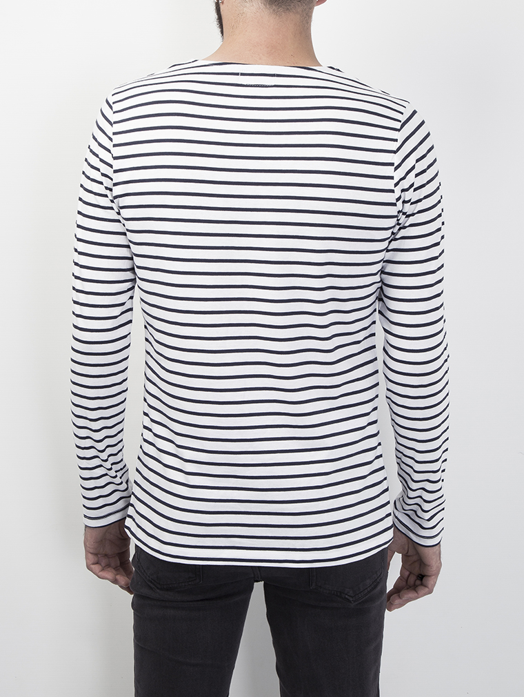 Cochise Men's Long Sleeve Breton Striped Top image three