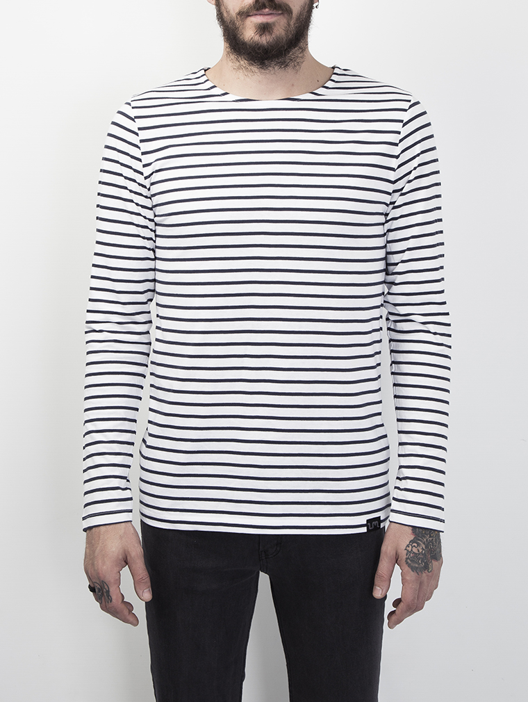 Cochise Men's Long Sleeve Breton Striped Top image one