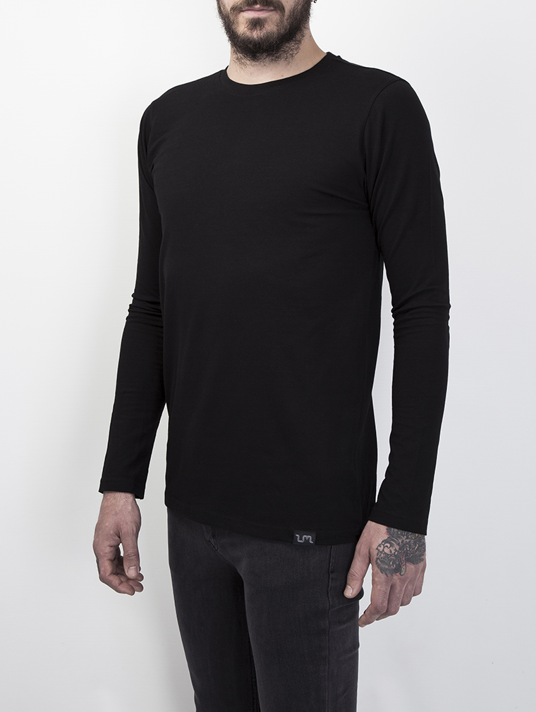 Cyrus Men's Long Sleeve Top in Black image two