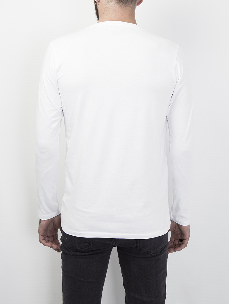 Cyrus Men's Long Sleeve Top in White image three