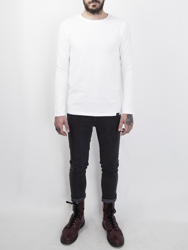 Cyrus Men's Long Sleeve Top in White image four