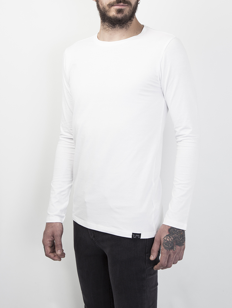 Cyrus Men's Long Sleeve Top in White image two