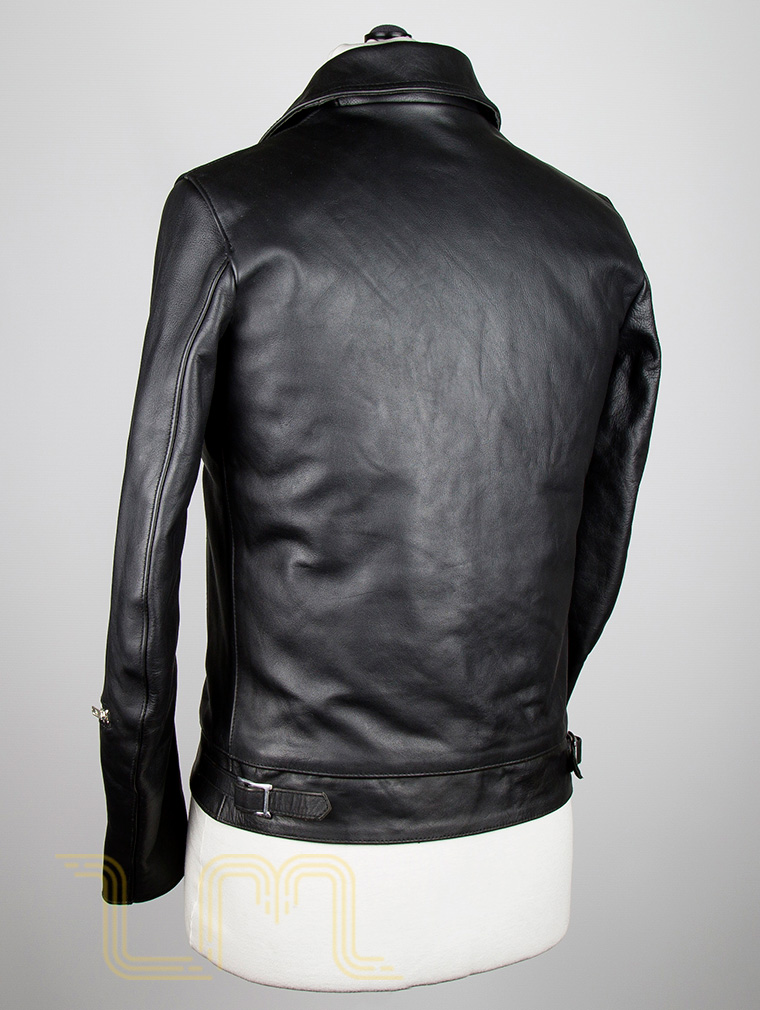 Classic Leather Biker Jacket: Fighter by Leather Monkeys image five
