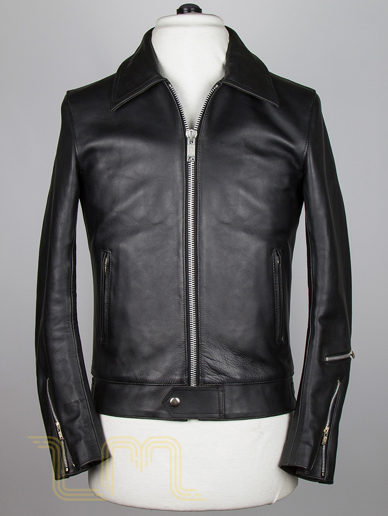 Classic Leather Biker Jacket: Fighter by Leather Monkeys image two