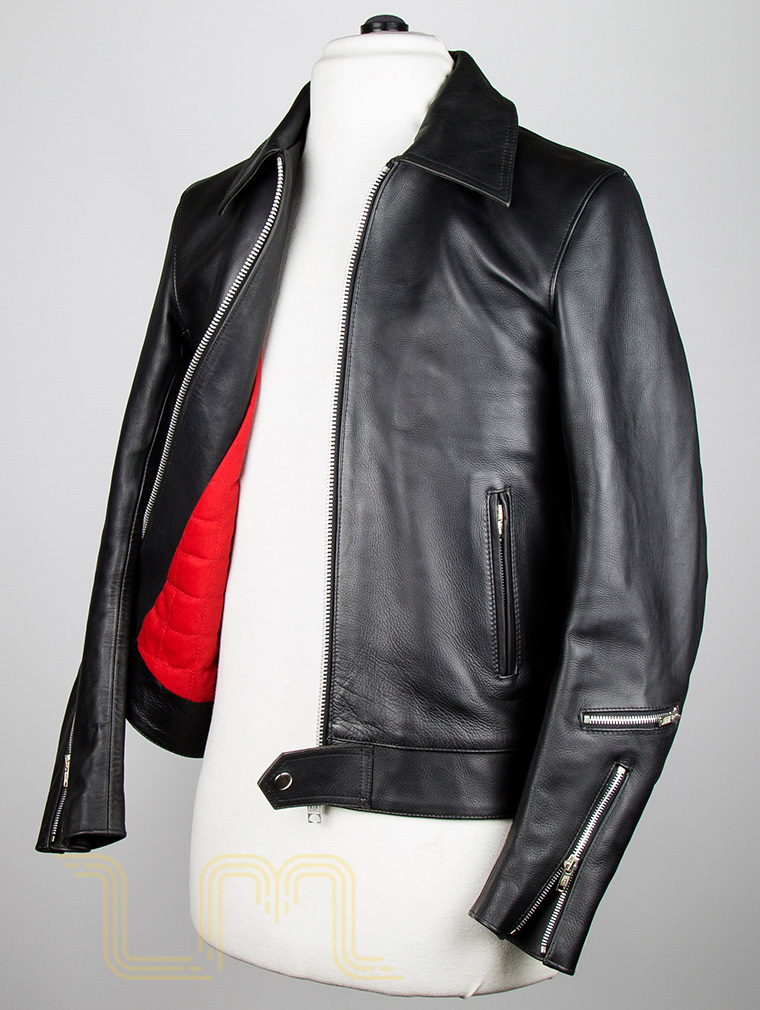 Classic Leather Biker Jacket: Fighter by Leather Monkeys image six
