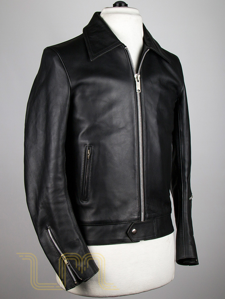 Classic Leather Biker Jacket: Fighter by Leather Monkeys image four