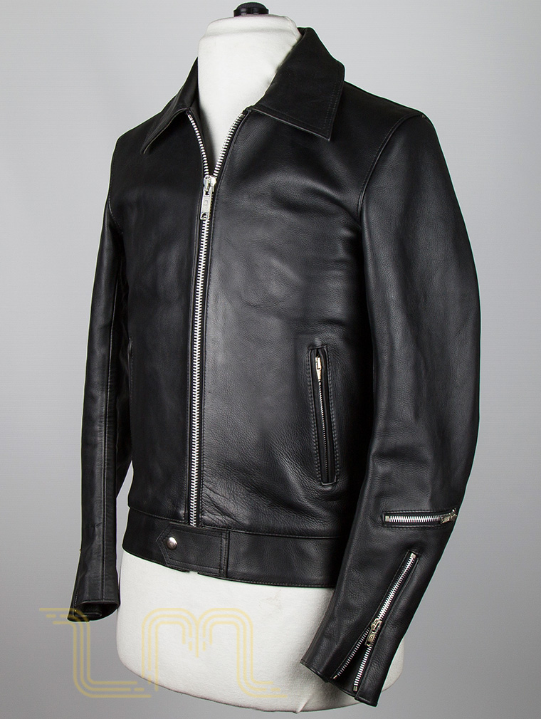 Classic Leather Biker Jacket: Fighter by Leather Monkeys image three