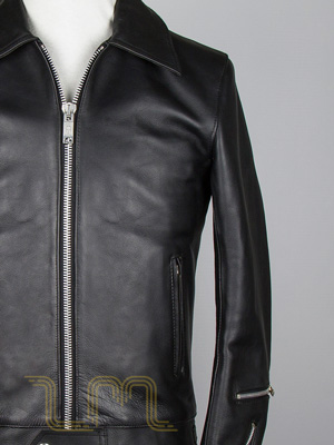 Classic Leather Biker Jacket: Fighter by Leather Monkeys
