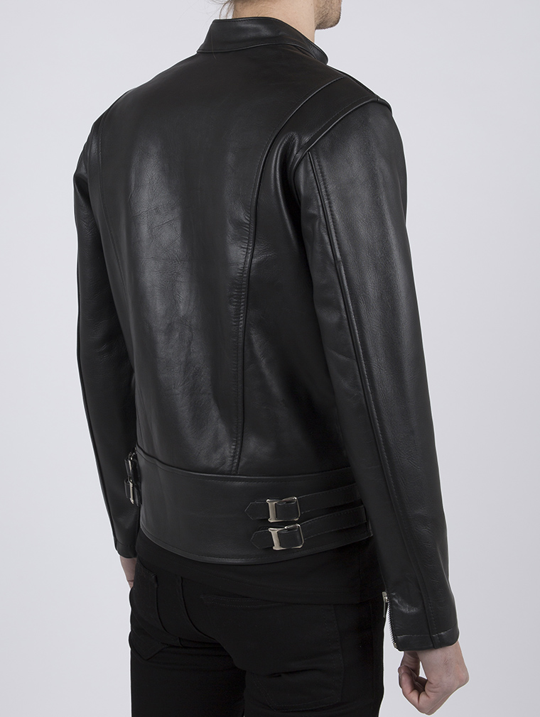 Leather Cafe Racer Biker Jacket: Icon by Leather Monkeys image six