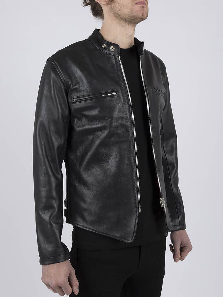 Leather Cafe Racer Biker Jacket: Icon by Leather Monkeys image three
