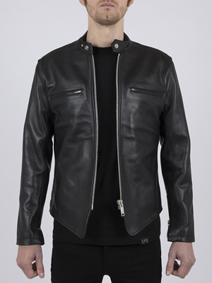 Leather Cafe Racer Biker Jacket: Icon by Leather Monkeys