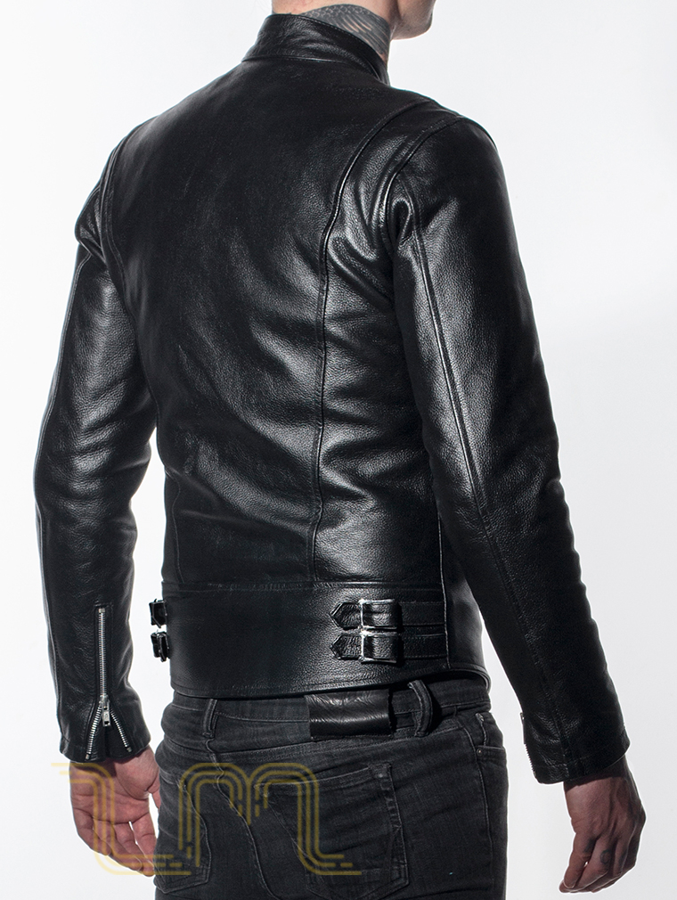Leather Cafe Racer Biker Jacket: Icon by Leather Monkeys image five