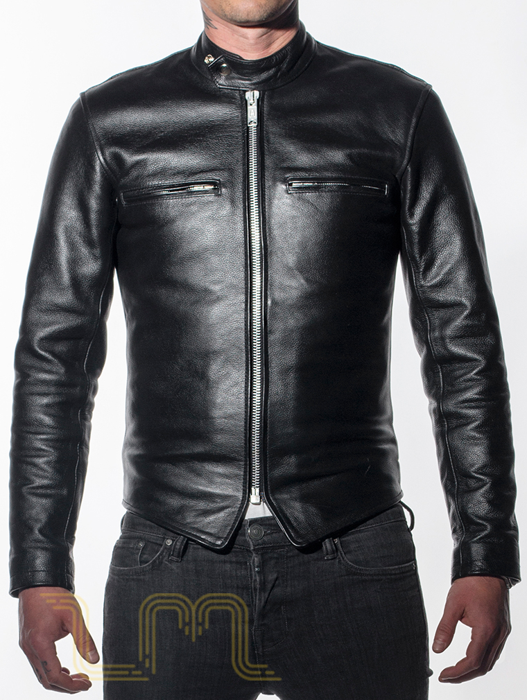 Leather Cafe Racer Biker Jacket: Icon by Leather Monkeys image two