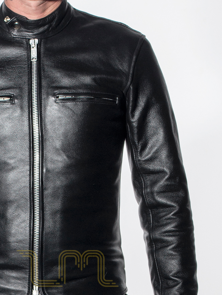Leather Cafe Racer Biker Jacket: Icon by Leather Monkeys image one