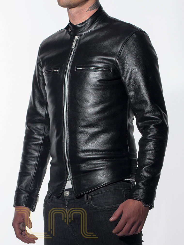 Leather Cafe Racer Biker Jacket: Icon by Leather Monkeys three