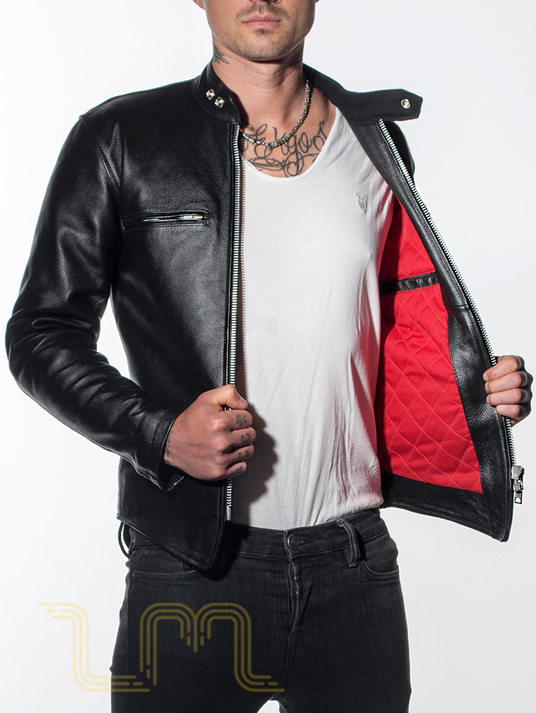 Leather Cafe Racer Biker Jacket: Icon by Leather Monkeys six