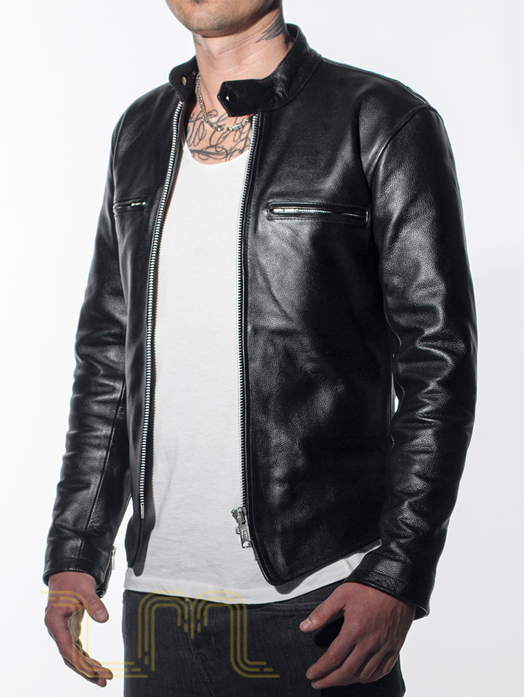 Leather Cafe Racer Biker Jacket: Icon by Leather Monkeys image four