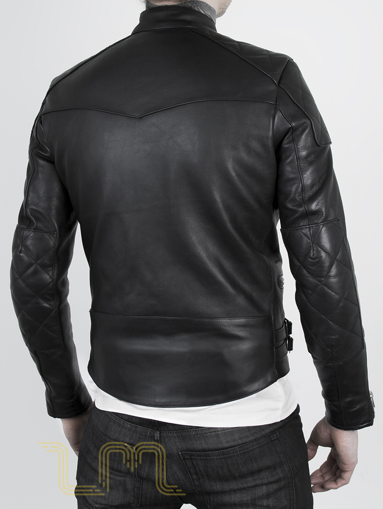 Leather Cafe Racer Biker Jacket: Invictus by Leather Monkeys image six