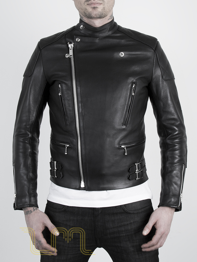 Leather Cafe Racer Biker Jacket: Invictus by Leather Monkeys image two