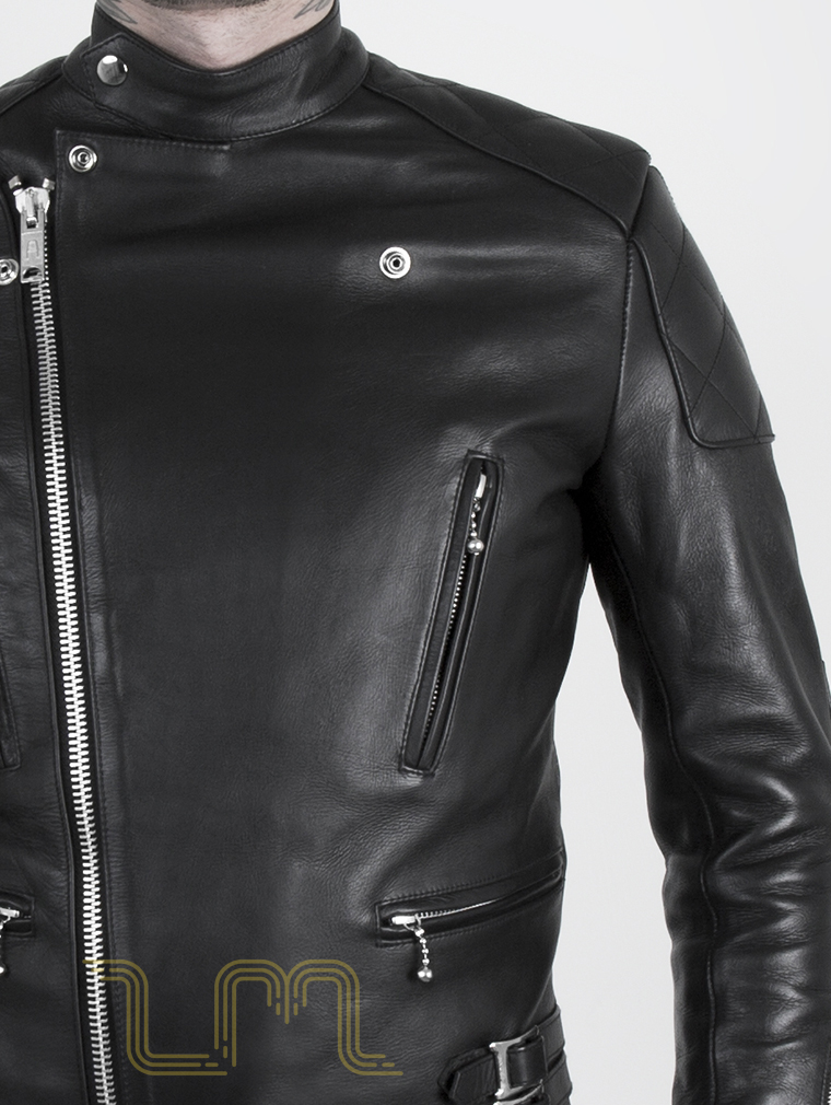 dc02d5a84 Leather Cafe Racer Biker Jacket: Invictus by Leather Monkeys