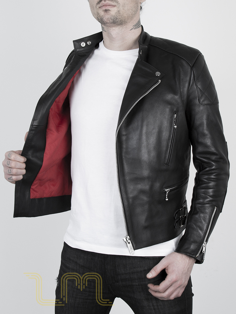 Leather Cafe Racer Biker Jacket: Invictus by Leather Monkeys image five