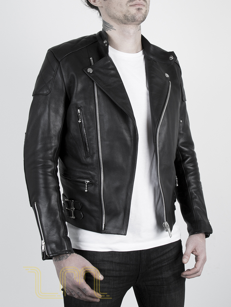 Leather Cafe Racer Biker Jacket: Invictus by Leather Monkeys image four