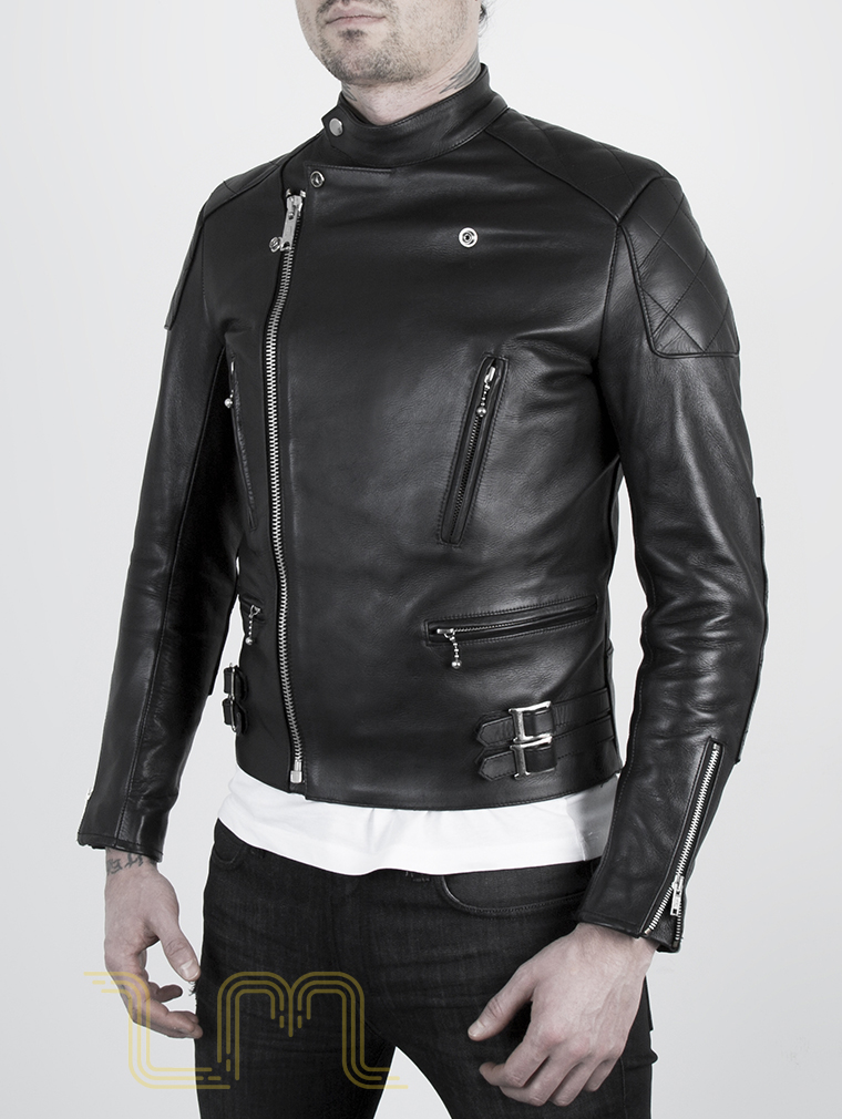 Leather Cafe Racer Biker Jacket: Invictus by Leather Monkeys image three