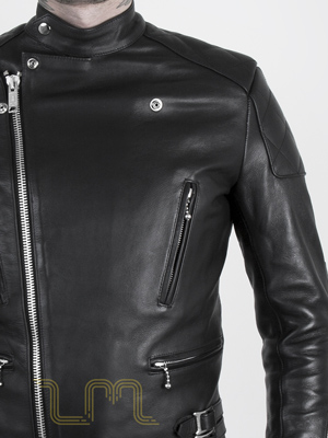Leather Cafe Racer Biker Jacket: Invictus by Leather Monkeys