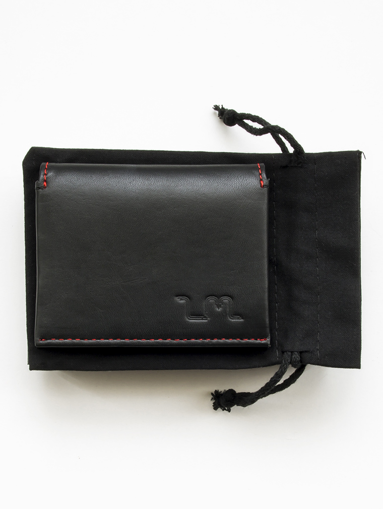 Io Leather Credit Card Wallet in Black five