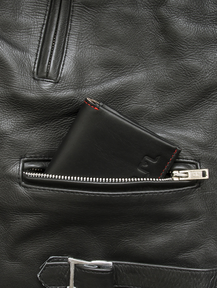 Io Leather Credit Card Wallet in Black image six