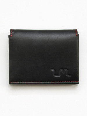 Io Leather Credit Card Wallet in Black
