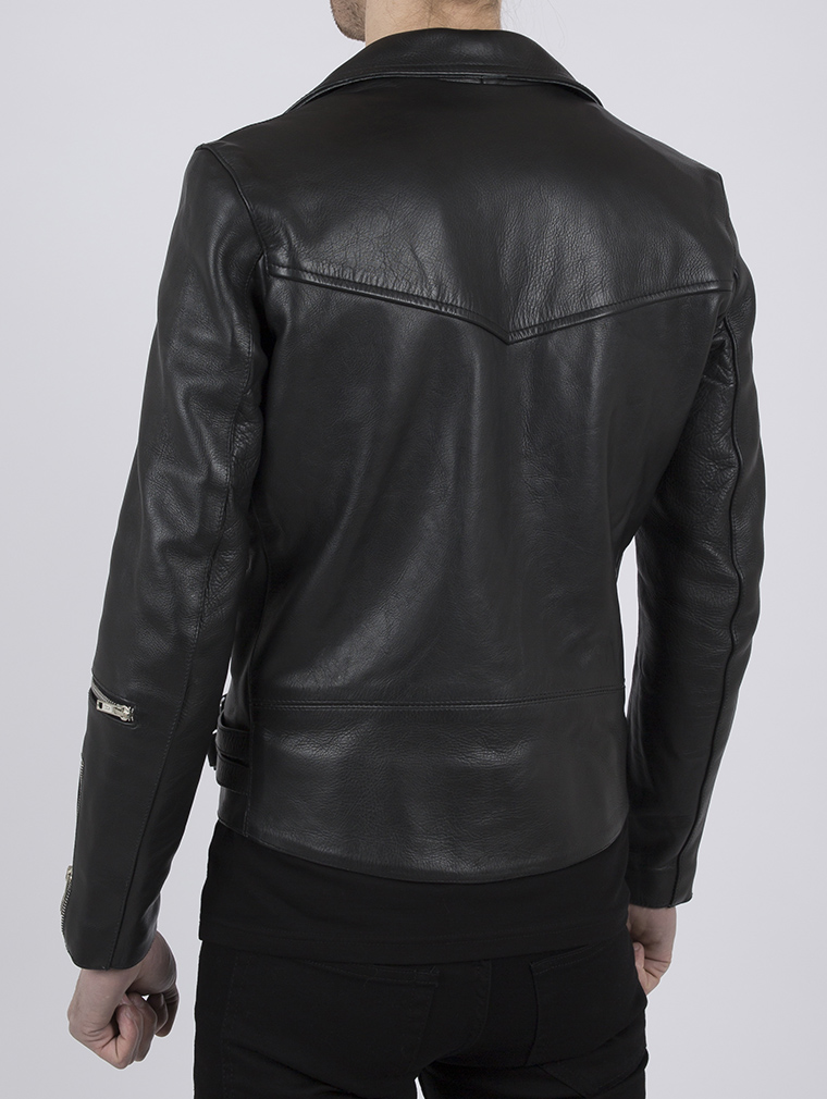 Classic Leather Biker Jacket: Maverick by Leather Monkeys image six
