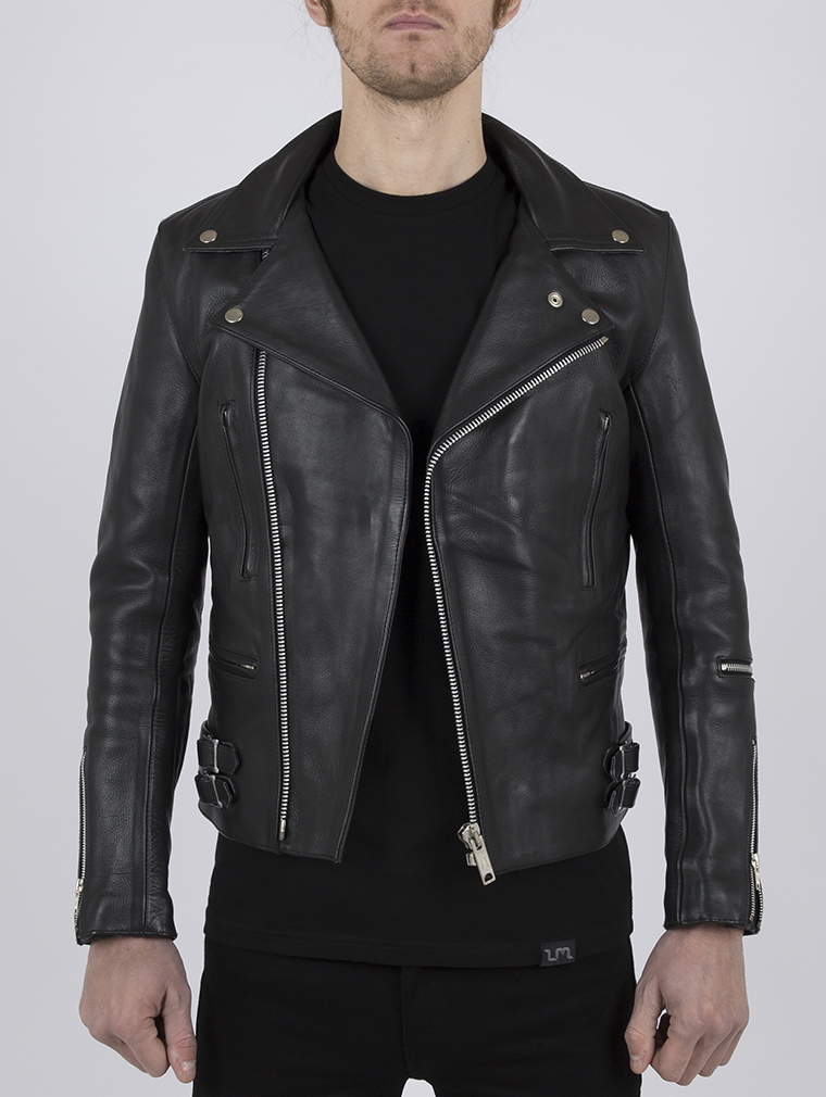 Classic Leather Biker Jacket: Maverick by Leather Monkeys image one