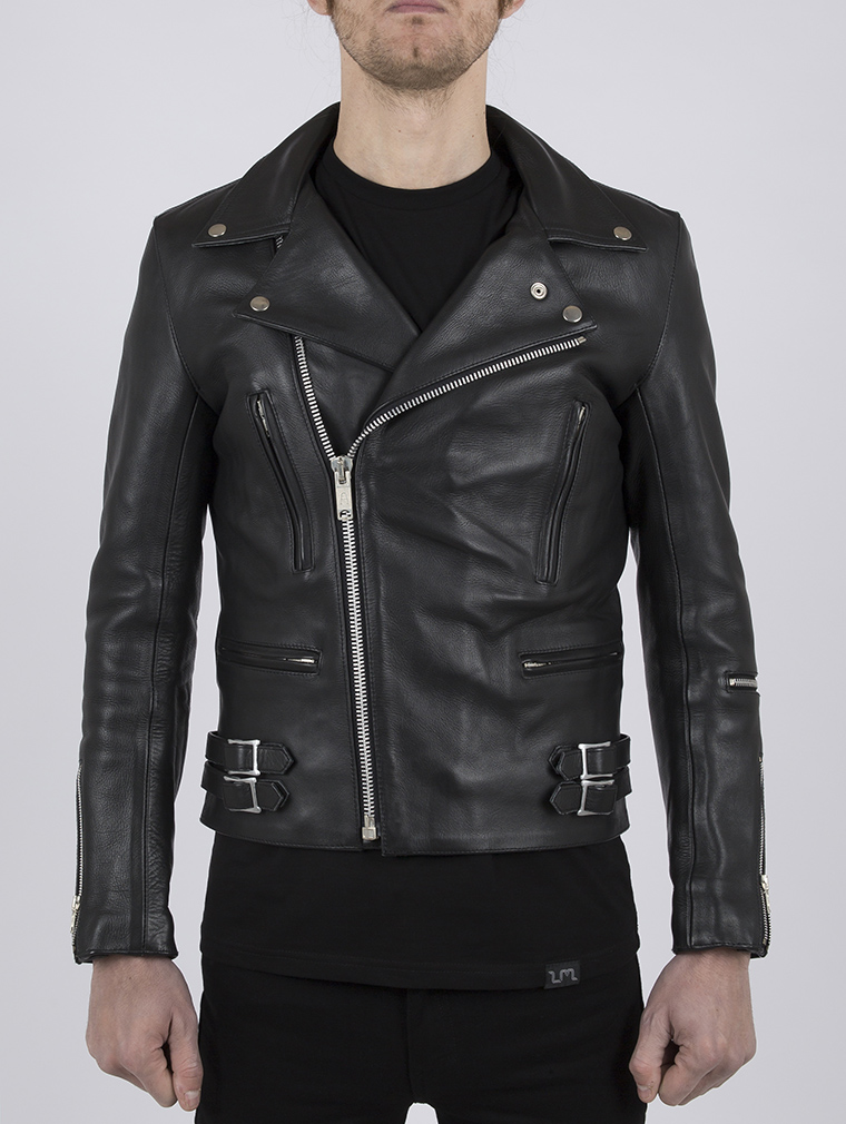 Classic Leather Biker Jacket: Maverick by Leather Monkeys image three