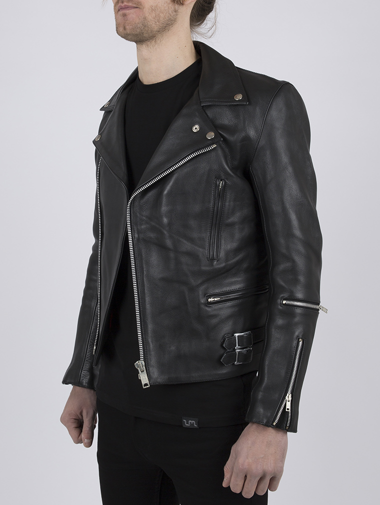 Classic Leather Biker Jacket: Maverick by Leather Monkeys image two