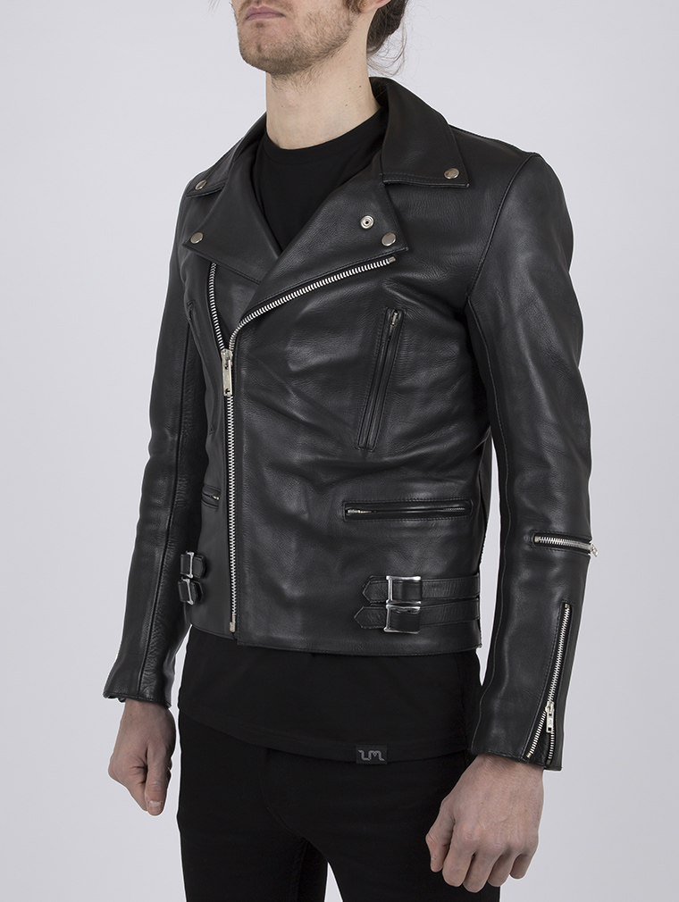 Classic Leather Biker Jacket: Maverick by Leather Monkeys image four