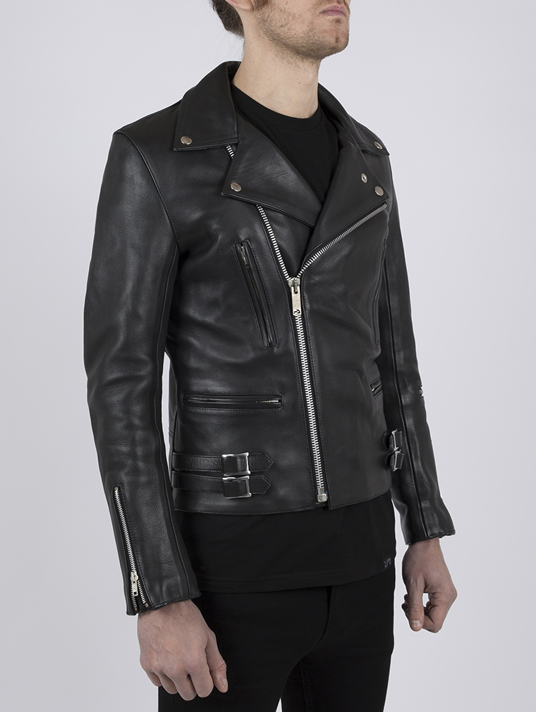 Classic Leather Biker Jacket: Maverick by Leather Monkeys image five