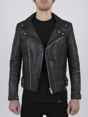 Classic Leather Biker Jacket: Maverick by Leather Monkeys